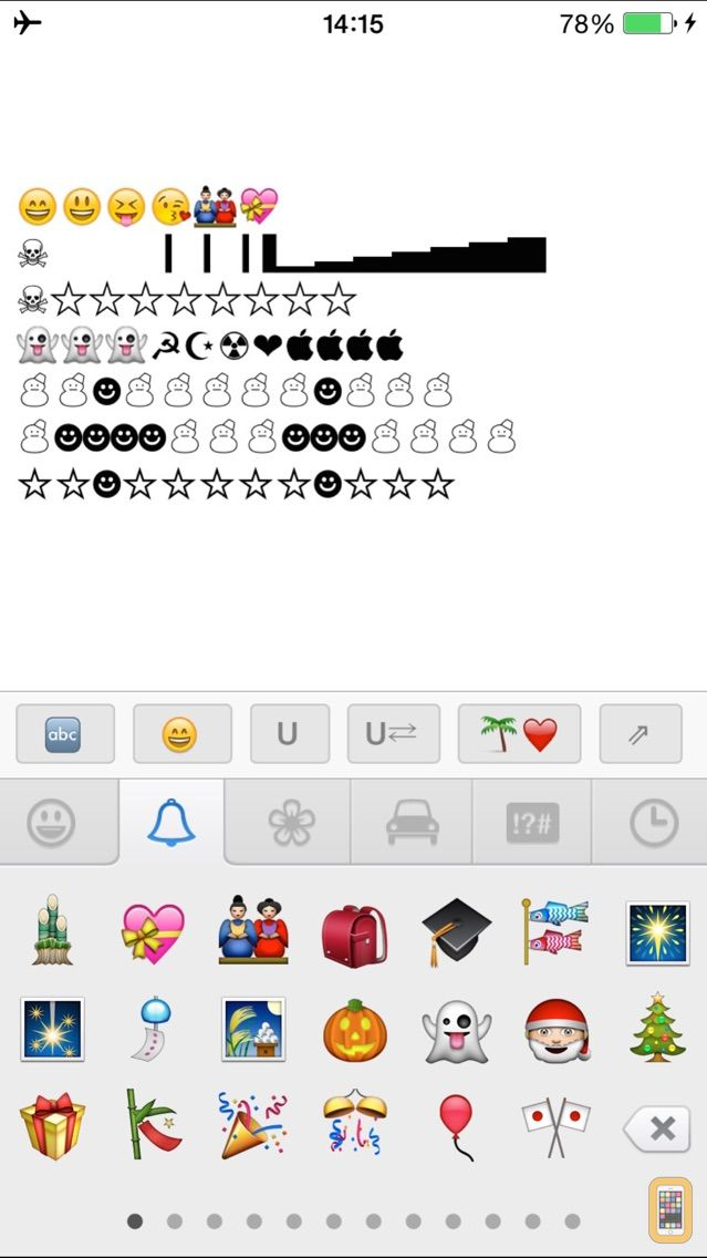 Screenshot - Emoji Smiley - Free Color Unicode Emoticons Keyboard for SMS, Messages & Email