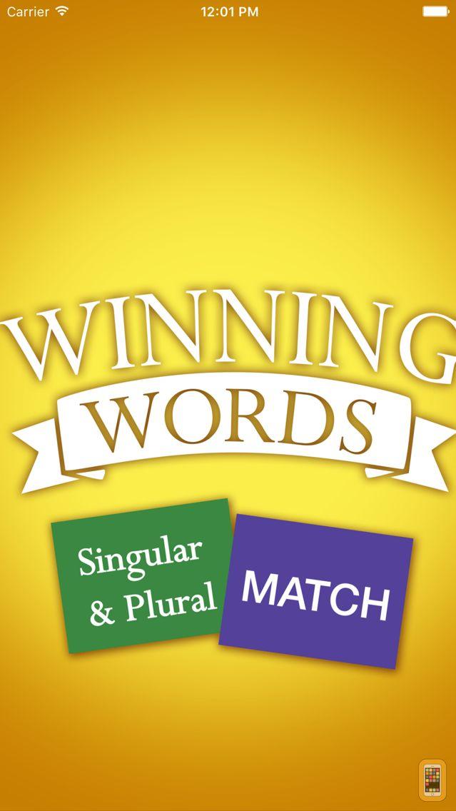 Screenshot - Singular and Plural Match