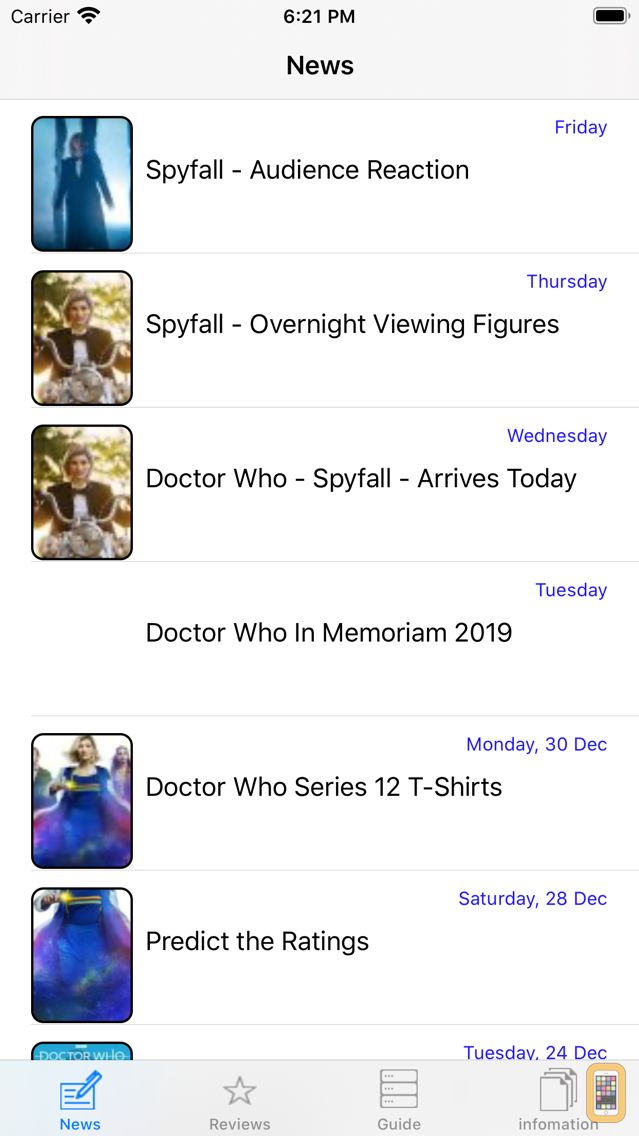 Screenshot - NITAS - Doctor Who News Matrix