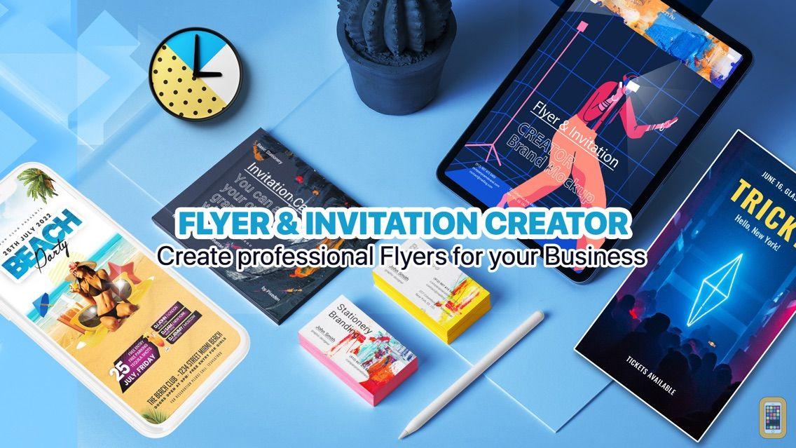 Flyer invitation creator for iphone ipad app info stats screenshot flyer invitation creator stopboris Choice Image