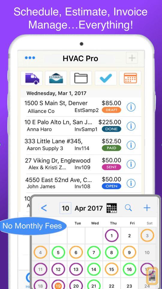Screenshot - HVAC Pro Invoices & Estimates