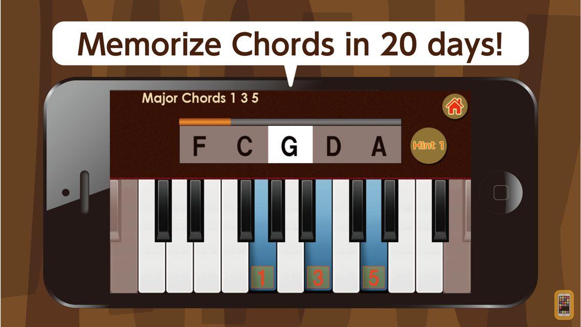 Screenshot - Study Chords Anywhere  --Volume 1 Major Chords--