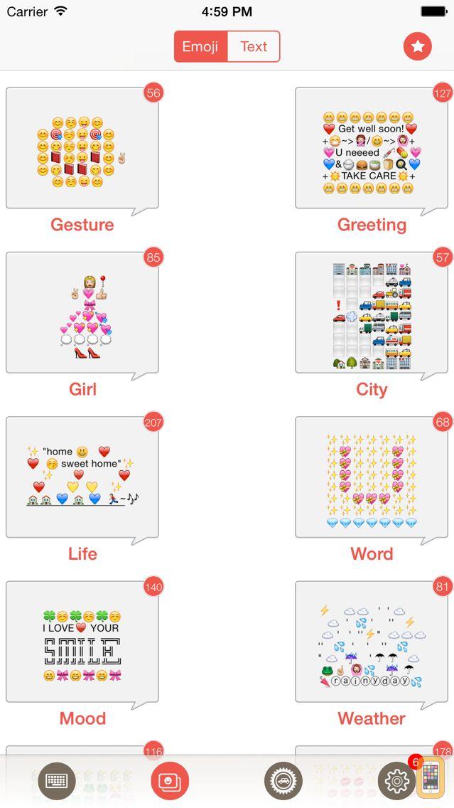 Screenshot - Emoji Keyboard - The Best Free Emoticon & Text Art Library