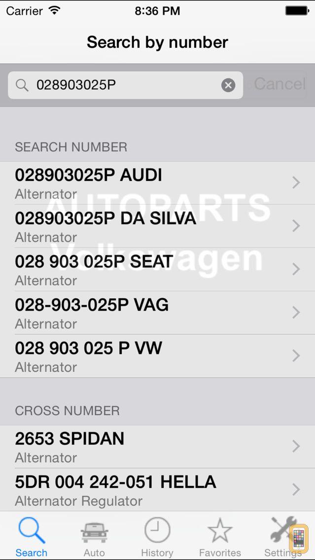 Screenshot - Autoparts for Volkswagen