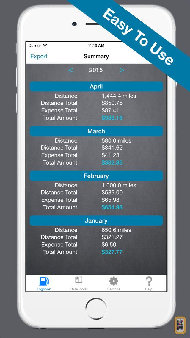 Screenshot - Mileage Expense Log 7 - Mobile Drive Tracker App!