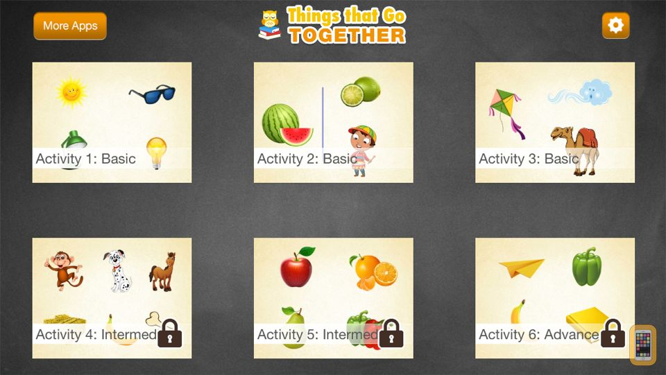 Screenshot - Montessori PRO - Things That Go Together Matching Game for Kids