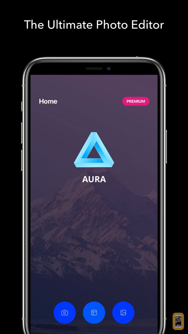 Screenshot - AURA - Camera Photo Editor: Filters, Frames & Text For Instagram.