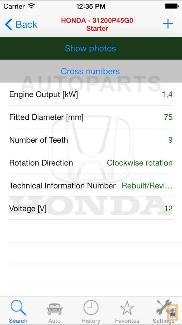Screenshot - Autoparts for Honda