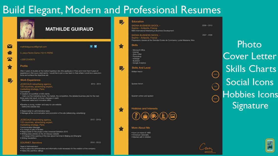 Screenshot - Resume Designer Pro