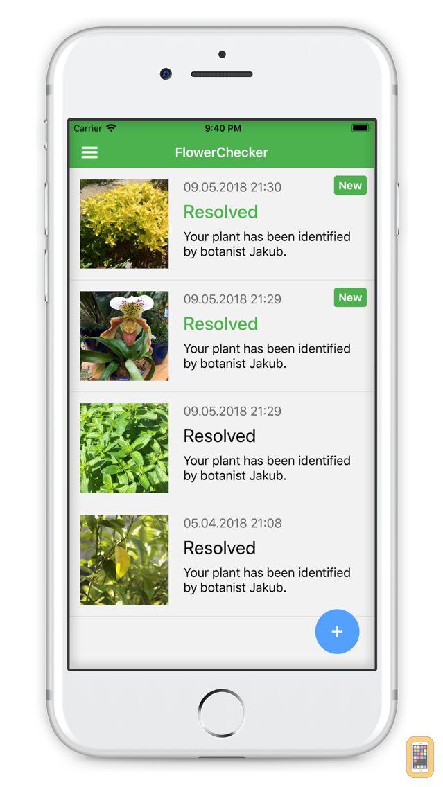 Screenshot - FlowerChecker, plant identify