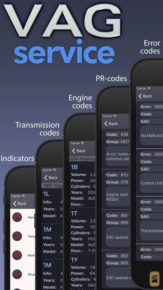 Screenshot - VAG service - Audi, Porsche, Seat, Skoda, VW.