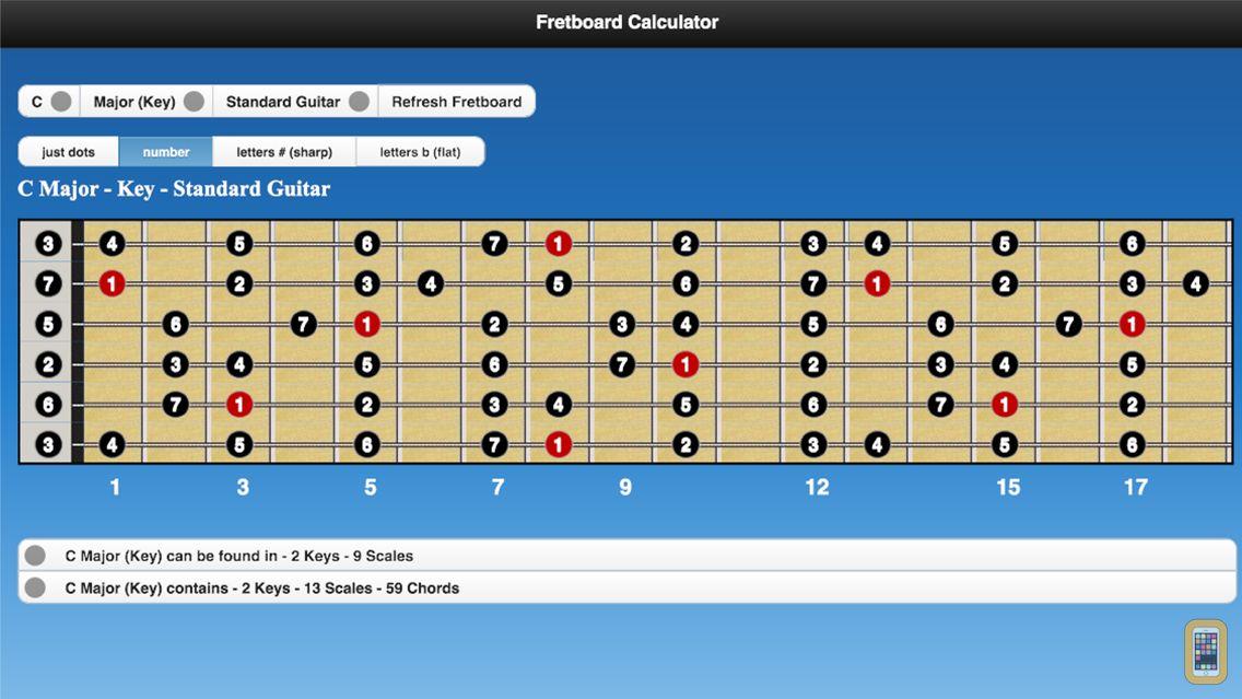 Screenshot - Fretboard Calculator