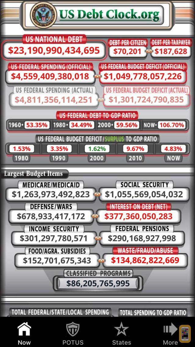 Screenshot - US Debt Clock .org