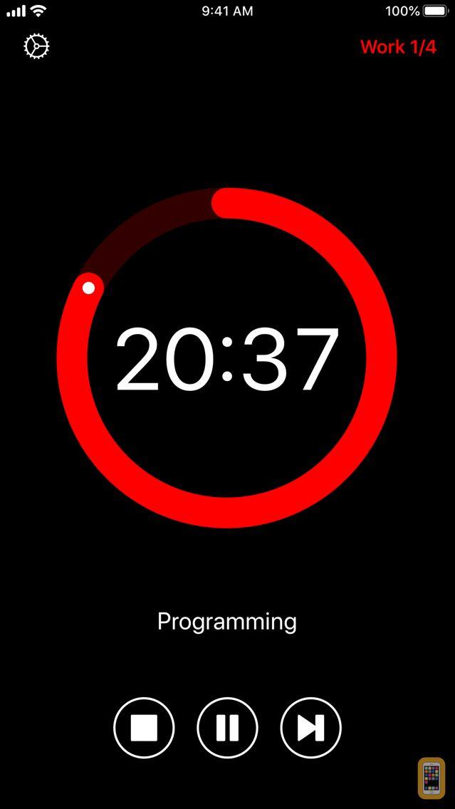 Screenshot - Pommie - Pomodoro Timer