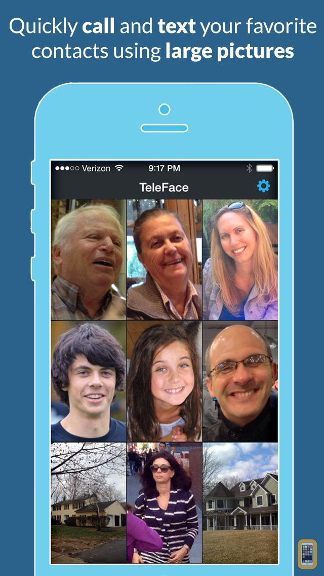 Screenshot - TeleFace - quickly call and text your favorite contacts using large pictures