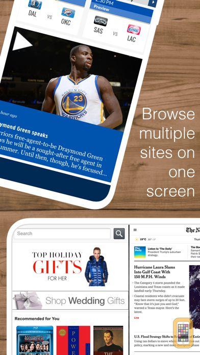 Screenshot - Split Web Browser: Fast Multitasking and Full Screen Multiple Tab Browsing for iPhone and iPad
