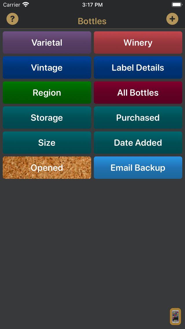 Screenshot - Bottles - Wine Cellar Manager