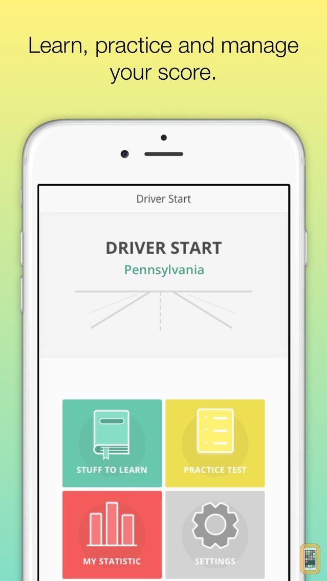Screenshot - Pennsylvania DMV - Driver License Test - prepare for Pennsylvania state driving knowledge test