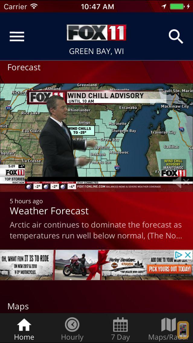 Screenshot - FOX 11 Weather