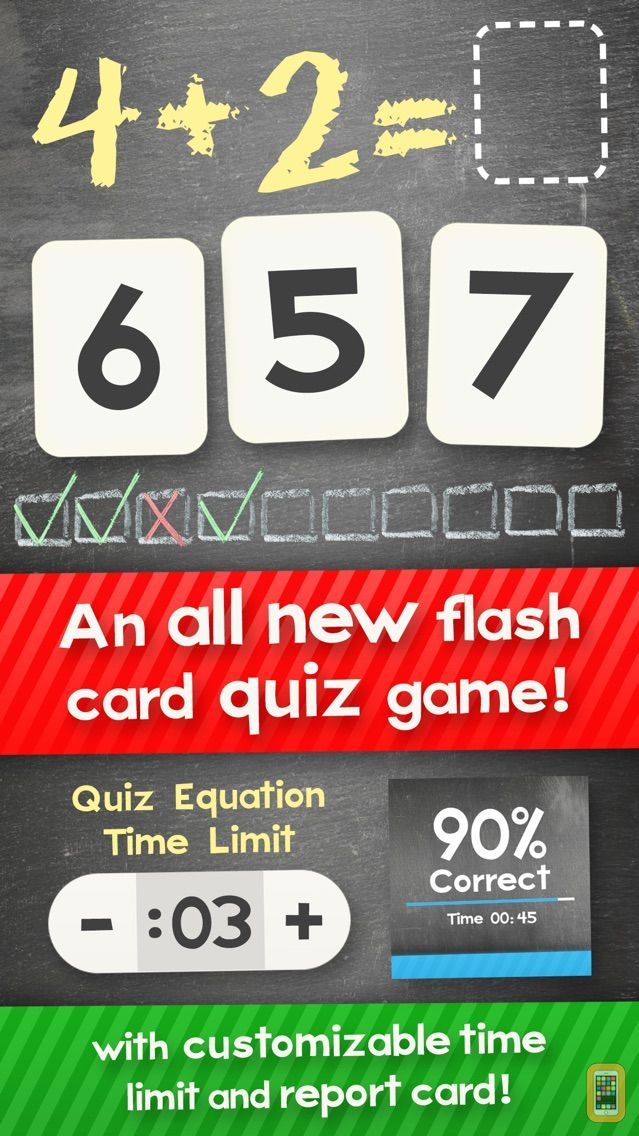 Screenshot - Addition Flash Cards Math Help Quiz Learning Games