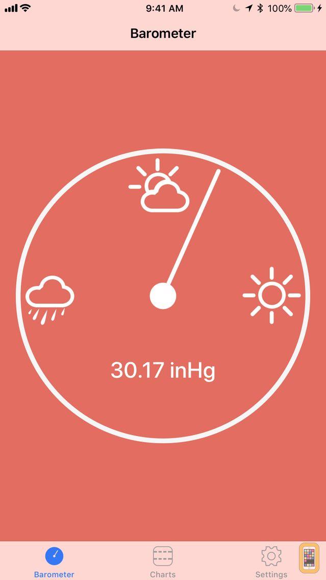 Screenshot - Digital Barometer S10