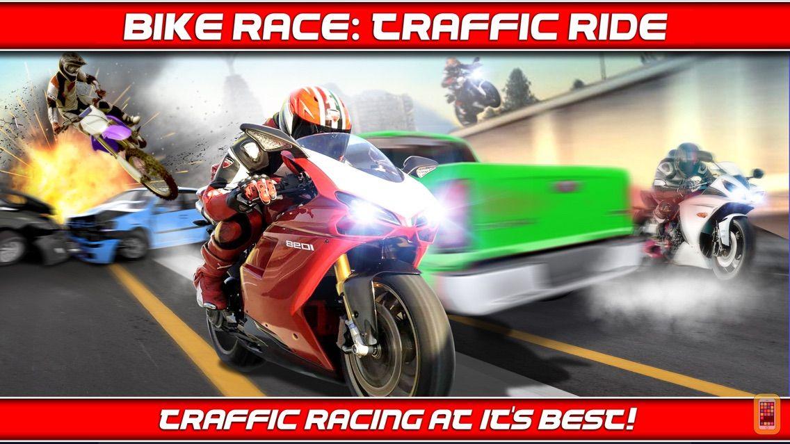 Screenshot - Bike Traffic Race Mania a Real Endless Road Racing Run Game