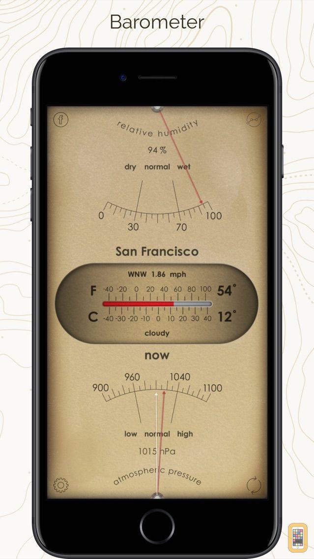 Screenshot - Weather Station: barometer app
