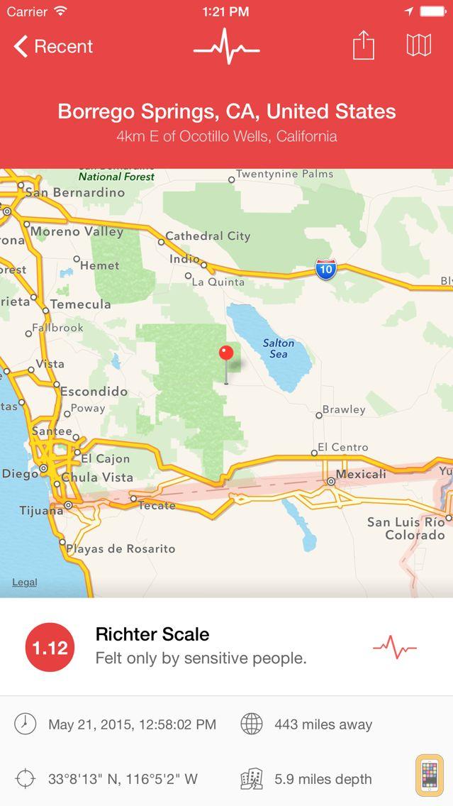 Screenshot - My Earthquake Alerts Pro