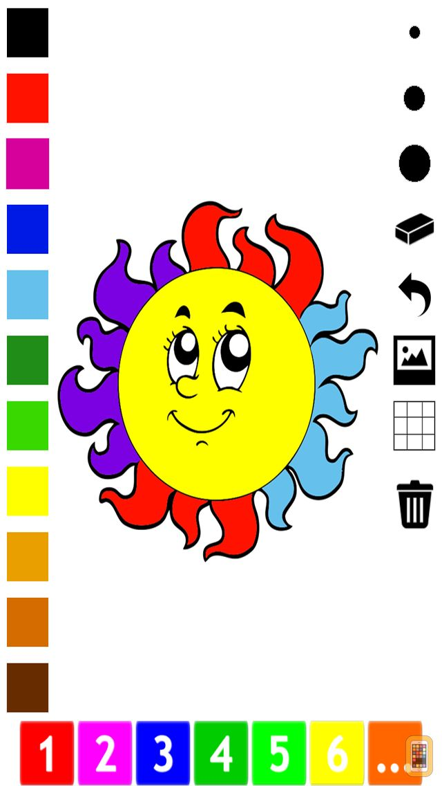 Screenshot - A Weather Coloring Book for Children: Learn to color the world