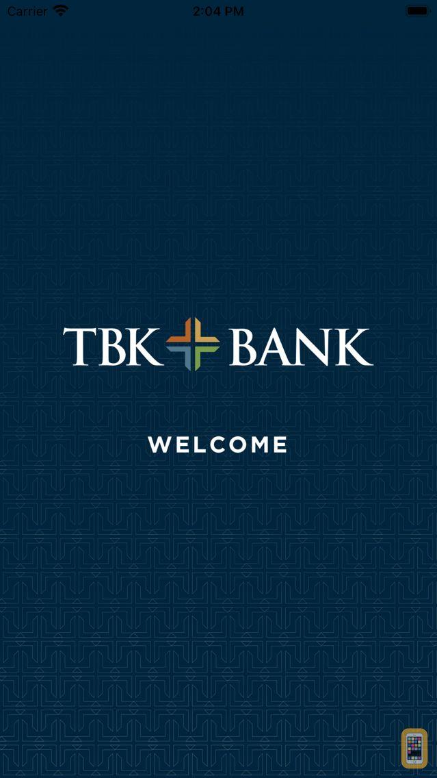 Screenshot - TBK Bank Mobile App