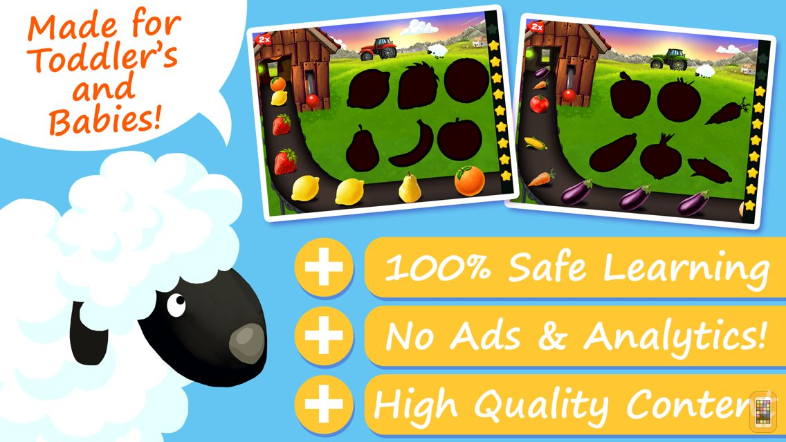 Screenshot - Shapes & Colors Farm Puzzles