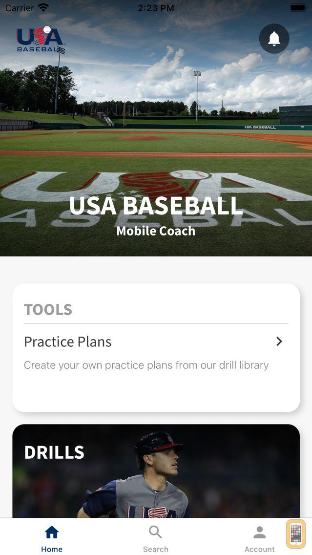 Screenshot - USA Baseball Mobile Coach